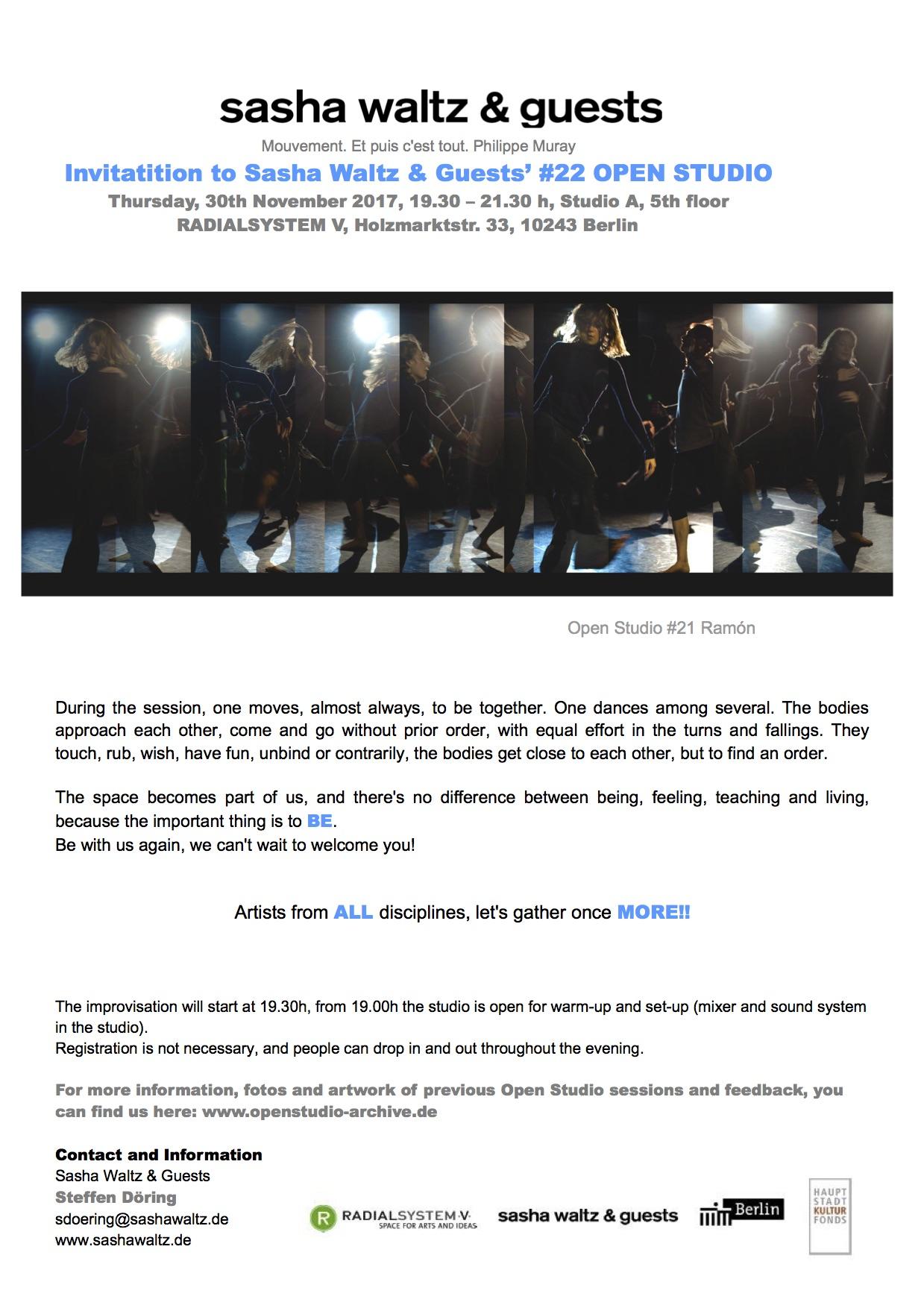 Open improvisation practice rosabel huguet invitation open studio 22 stopboris Image collections